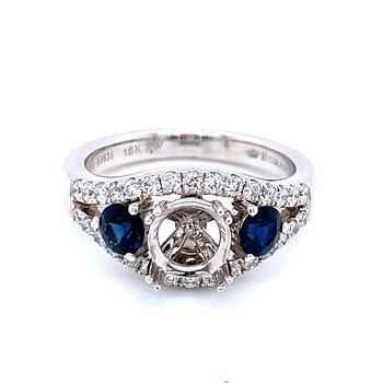 Romance Sapphire & Diamond Semi-mount Ring