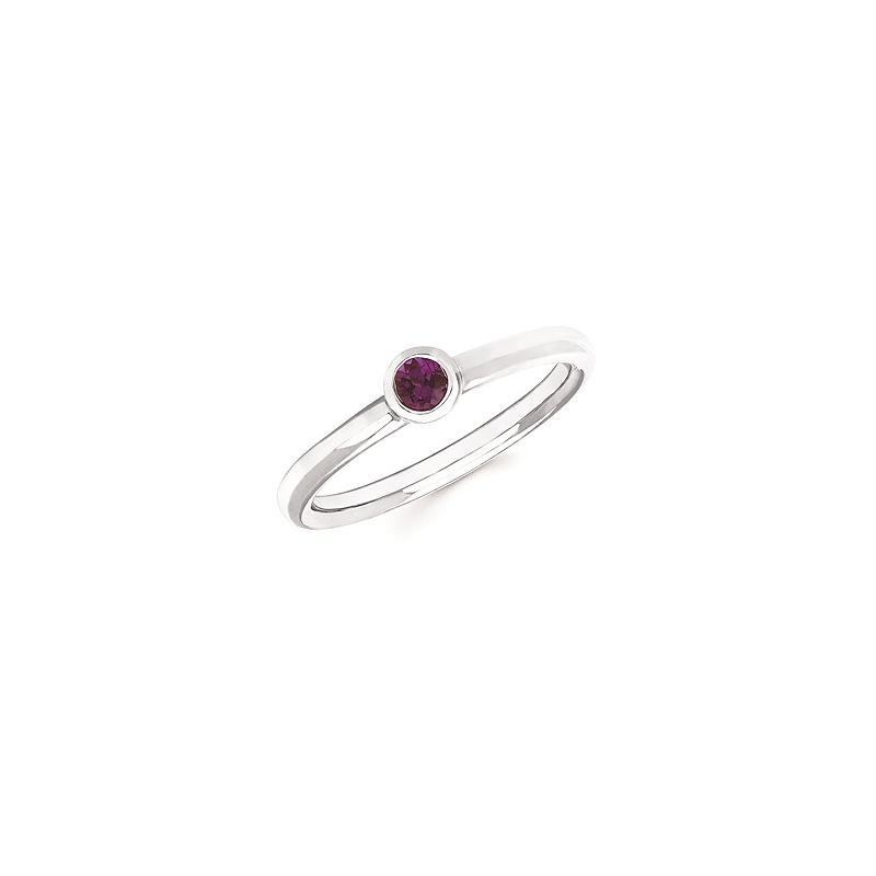 Ostbye Created Alexandrite Bezel Set Ring