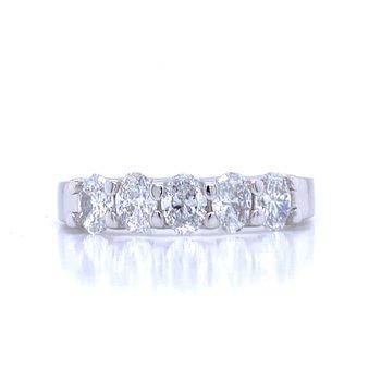 Oval Cut Diamond Band-1ctw