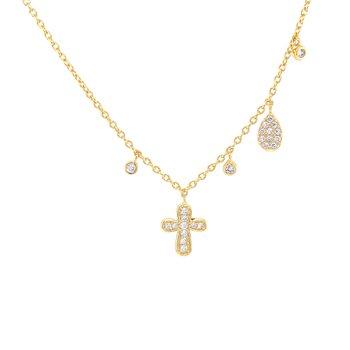 Designer Look Cross Necklace