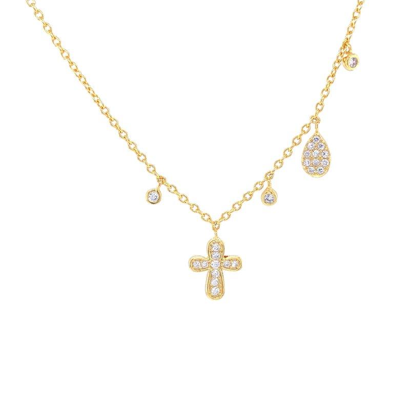 Bryan Beauties Designer Look Cross Necklace