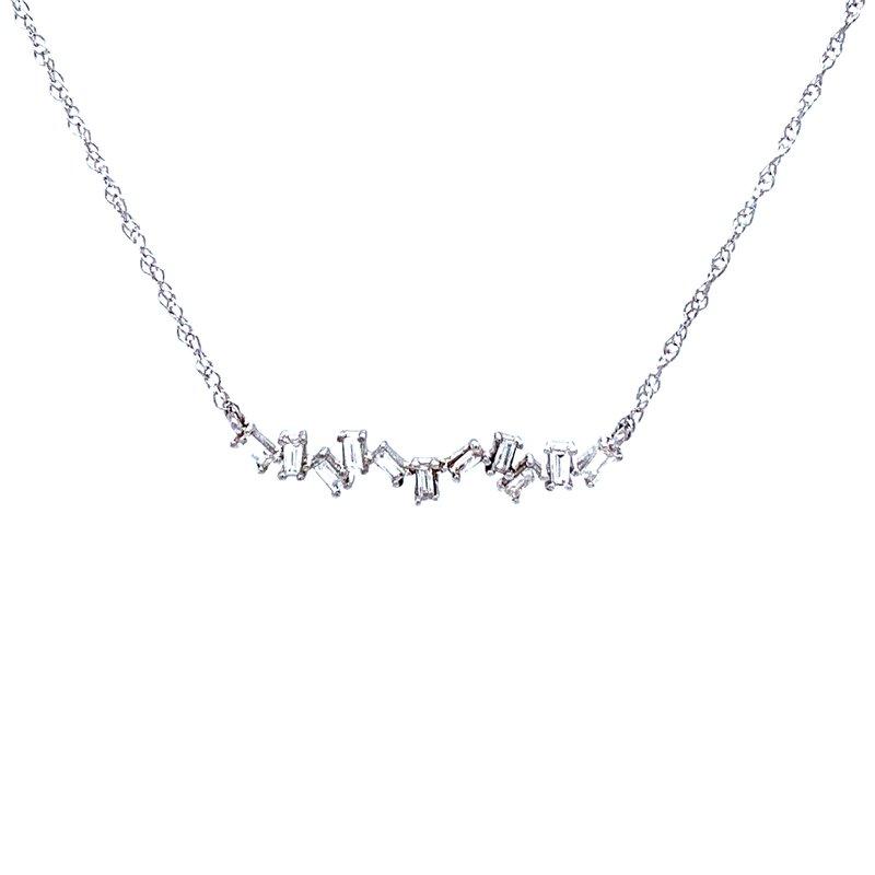 Bryan Beauties Baguette Trapeze Bar in Silver