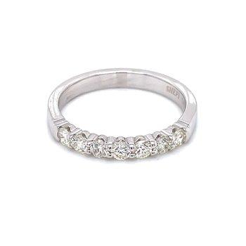 7 Diamond Shared Prong Band 1/3ctw 14kw