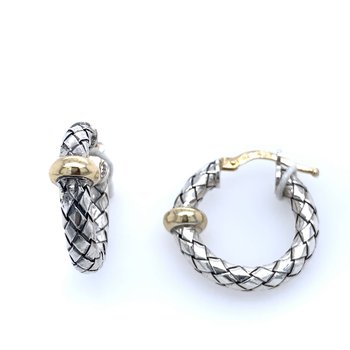 Sterling & 18k yellow gold Hoops