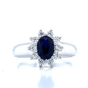 Simulated Sapphire Ring