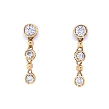 Sleek and Contemporary Diamond Dangles