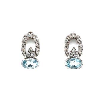 Aquamarine Elegance Earrings