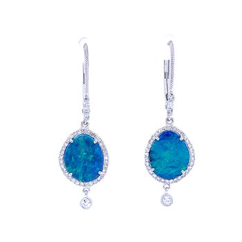 Meira T Opal Dangle Earrings