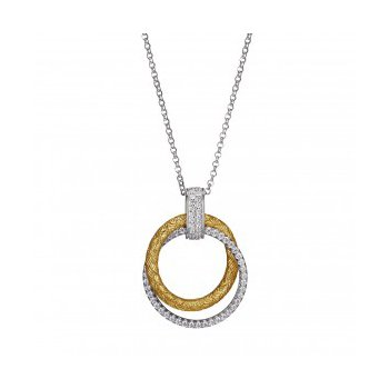 Simply Circular Two-tone Pendant