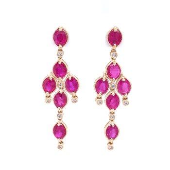 Chandelier Ruby Earrings