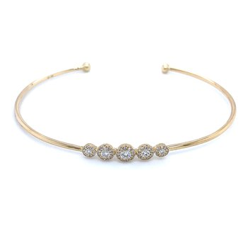 Glitter with Gold & Diamonds Bangle