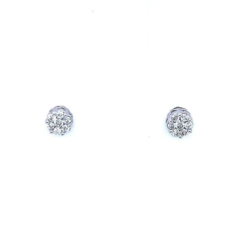Bryan Beauties Flower Cluster Earrings 1/10ctw 10kw