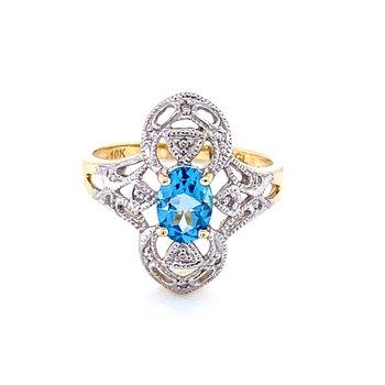 Vintage Style Blue TopazFashion Ring