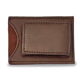 Brown Leather Front Pocket Wallet