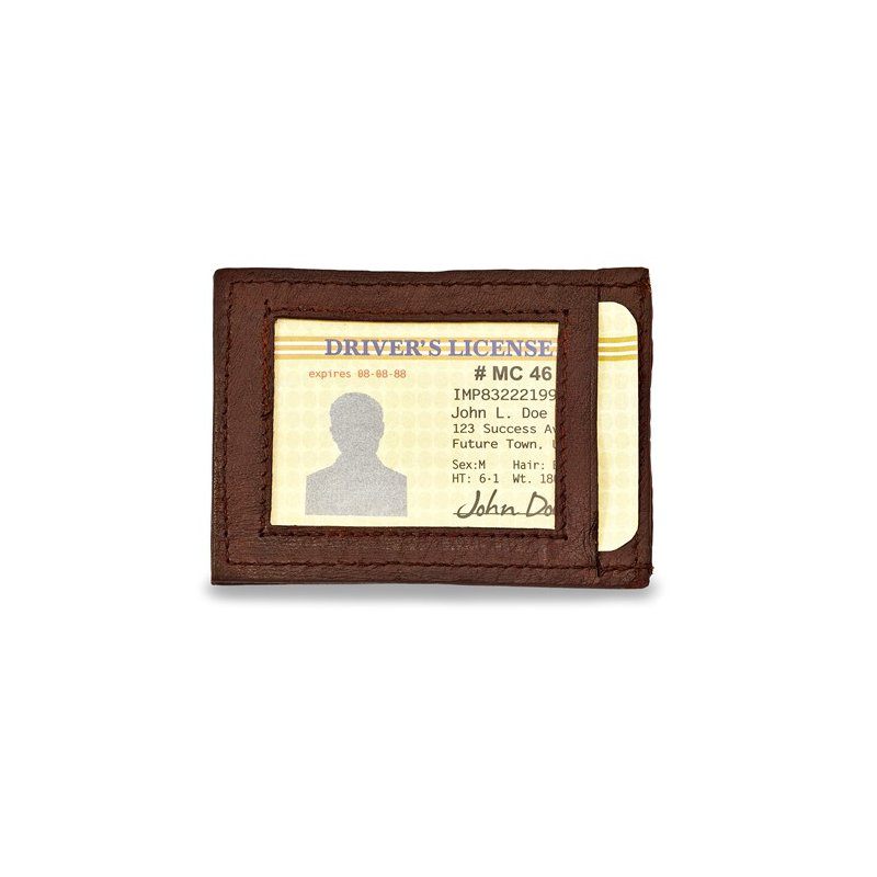 Bryan Beauties Brown Leather Front Pocket Wallet