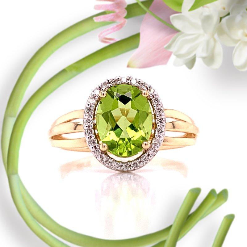 Bryan Beauties Oval Peridot & Diamond Ring