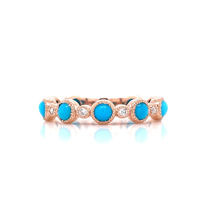 Bryan Beauties Rose Gold Turquoise Stackable