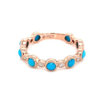 Rose Gold Turquoise Stackable