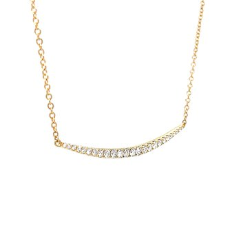 Minimal Style Diamond Necklace