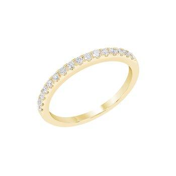 4 Prong Diamond Band 1/4ctw 14ky