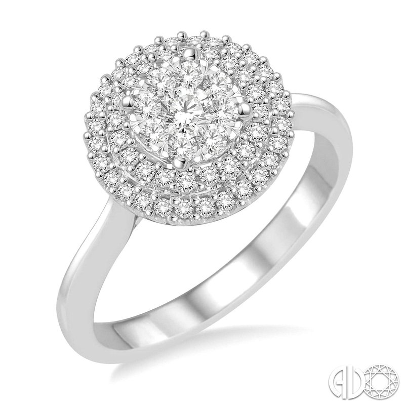 Bryan Beauties Double Halo Lovebright Ring