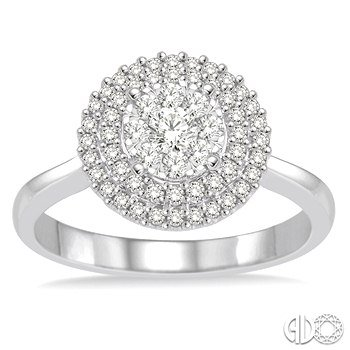 Double Halo Lovebright Ring