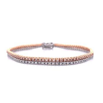Double Stack Tennis Bracelet