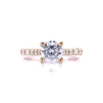 Cathedral of Sparkle Engagement Ring