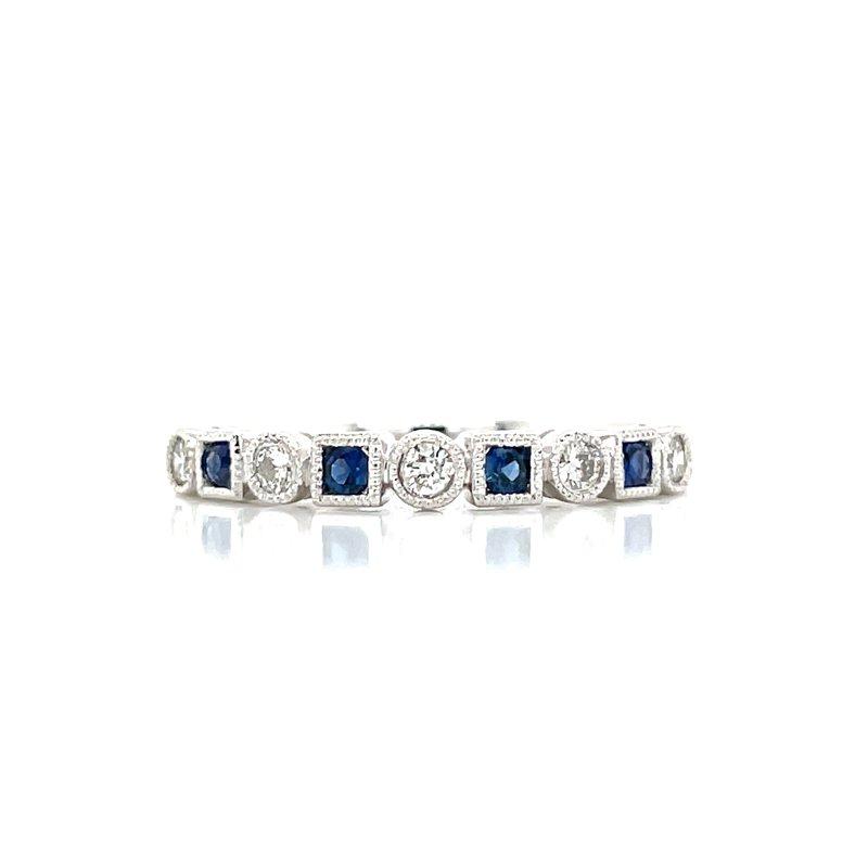 Bryan Beauties Sapphire & Diamond Shapes Band