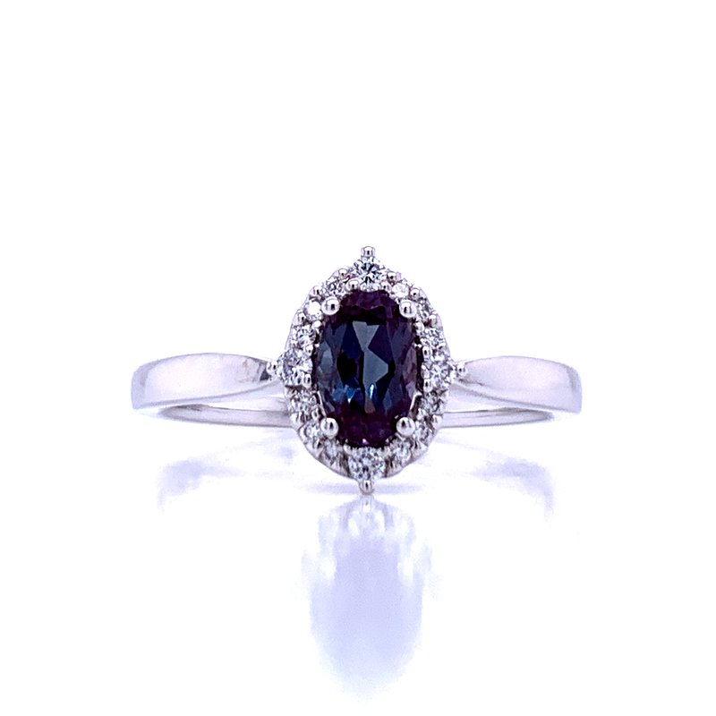Bryan Beauties Created Alexandrite Ring with Halo