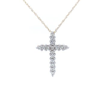 Simply Stated Diamond Cross - 10ky