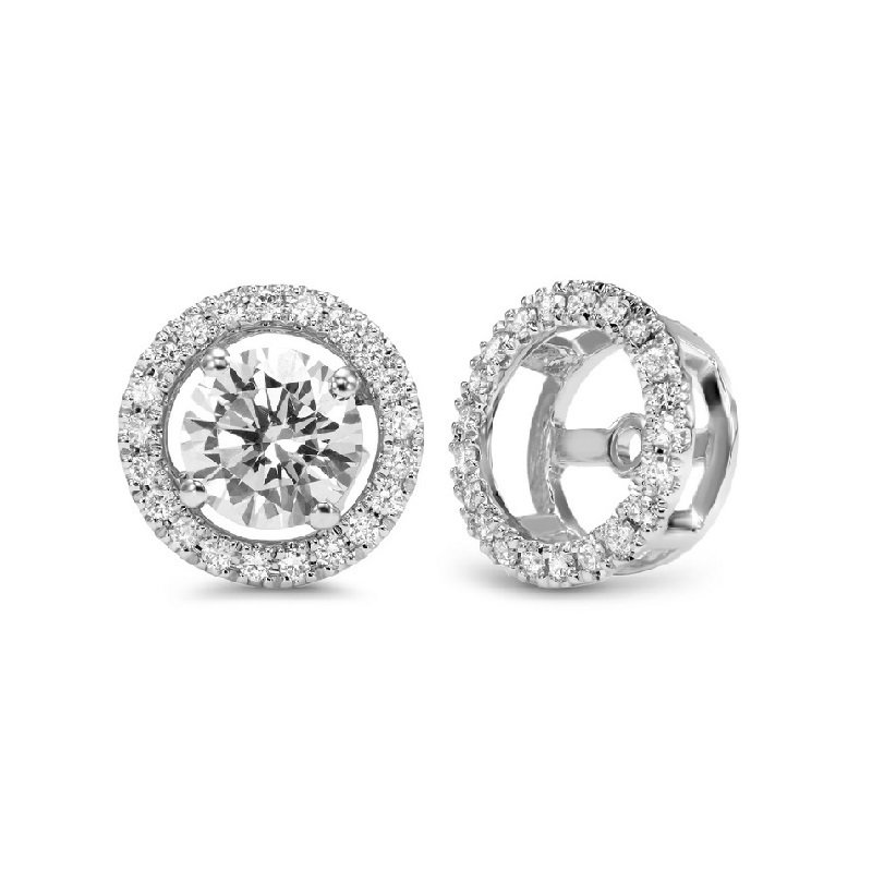 Bryan Beauties Round Halo Earring Jackets