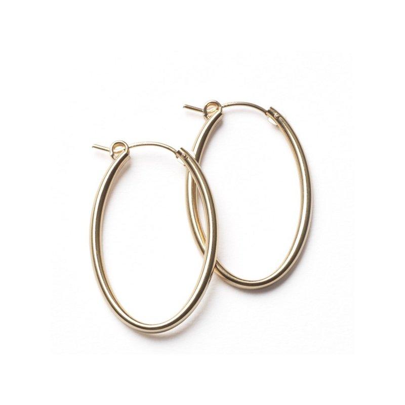 Bryan Beauties Gold Hoop Earrings - Oval 30mm