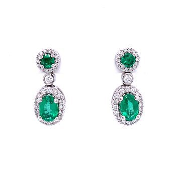 Set The Scene Emerald & Diamond Dangles