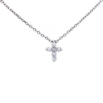 Petite Diamond Cross Pendant