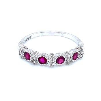 Round Stone Ruby Stacker Band