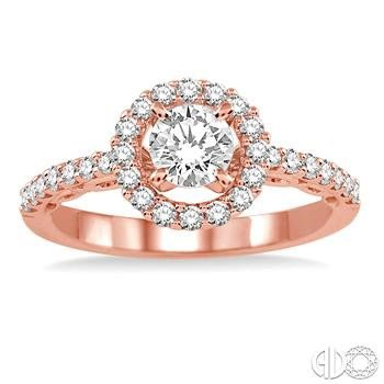 Romance in Rose Diamond Engagement Ring