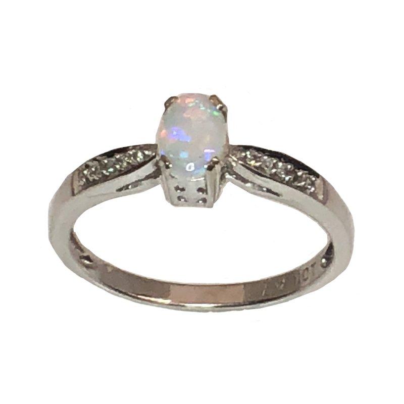 Bryan Beauties Opal and Diamond ring