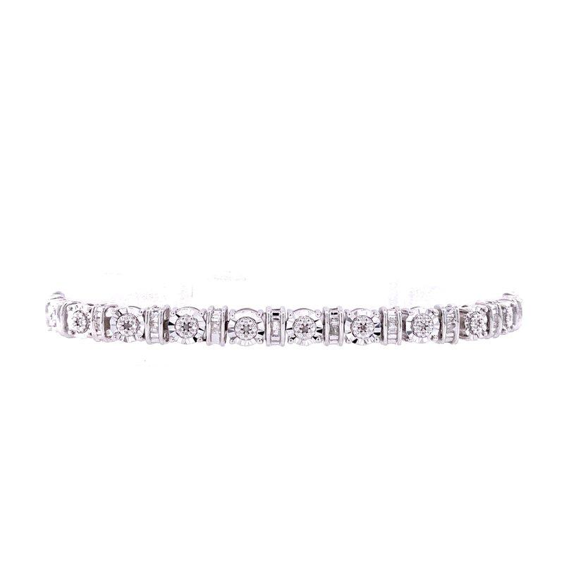 Bryan Beauties Diamond Tennis Bracelet-1/4ctw
