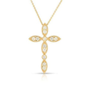 Sculptured Diamond Cross