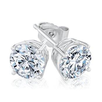 1 1/2ctw Diamond Stud Earrings