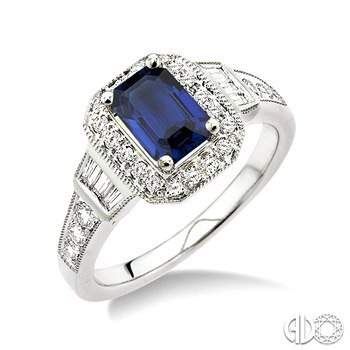 Capture Her Smile Sapphire and Diamond Ring