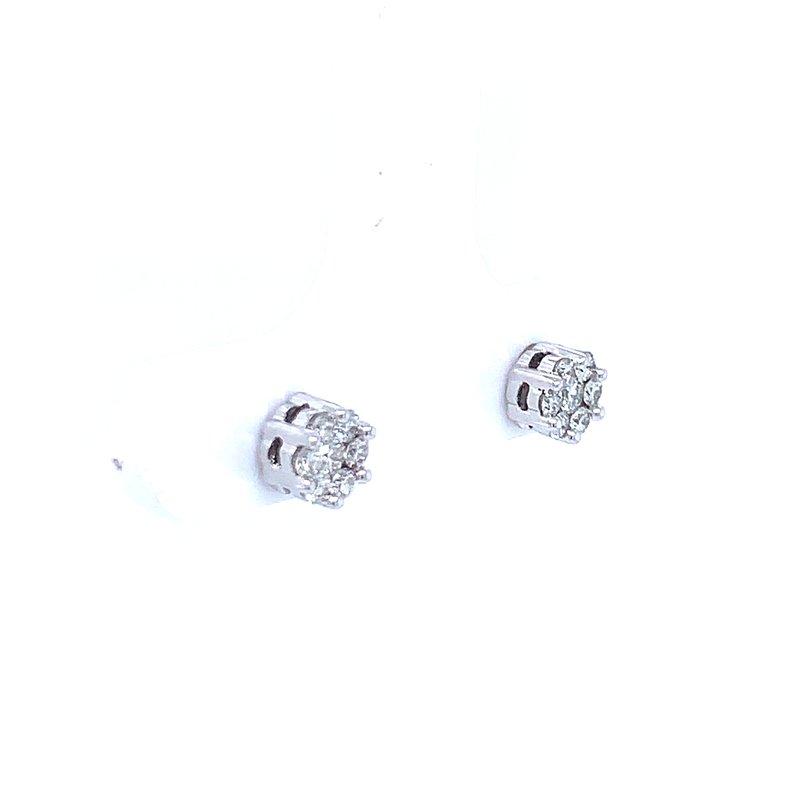 Bryan Beauties Flower Cluster Earrings 1/4ctw 10kw