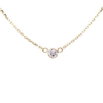 Single Station Diamond Necklace