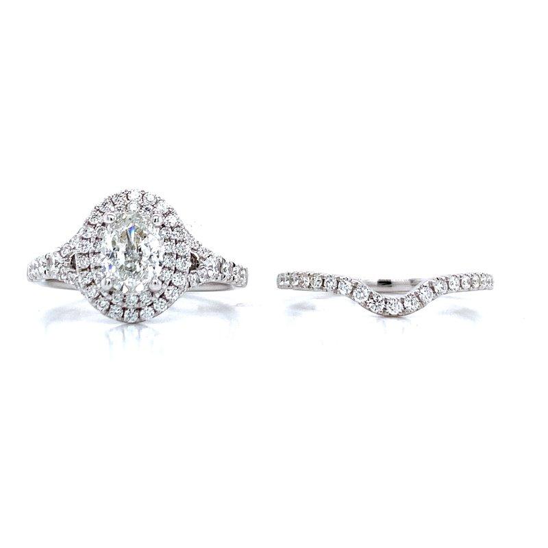 Romance Romance Double Halo Oval Bridal Set