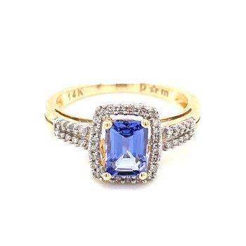 Tanzanite and Diamond Temptation Ring