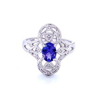 Vintage Style TanzaniteFashion Ring