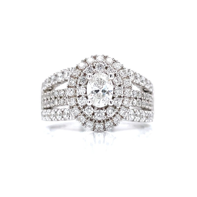 Bryan Beauties Oval Double Halo 1 1/2ctw Diamond Ring