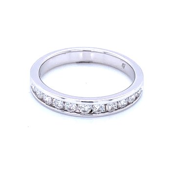 Channel Set Diamond Wedding Band 14kw- 1/2ctw