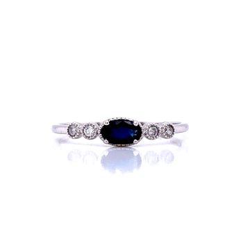 Sideways Sapphire Ring